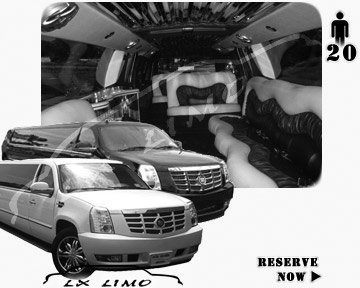 Cadillac Escalade 20 passenger SUV Limousine for rental in Phoenix, AZ